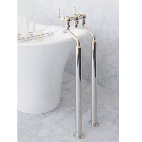 3525 Perrin & Rowe Bath Filler Tap With Extended Unions And Floor Legs Lever